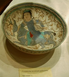 Bowl, Mina' painted ceramic XII-XIIIth cent. AD, Iran