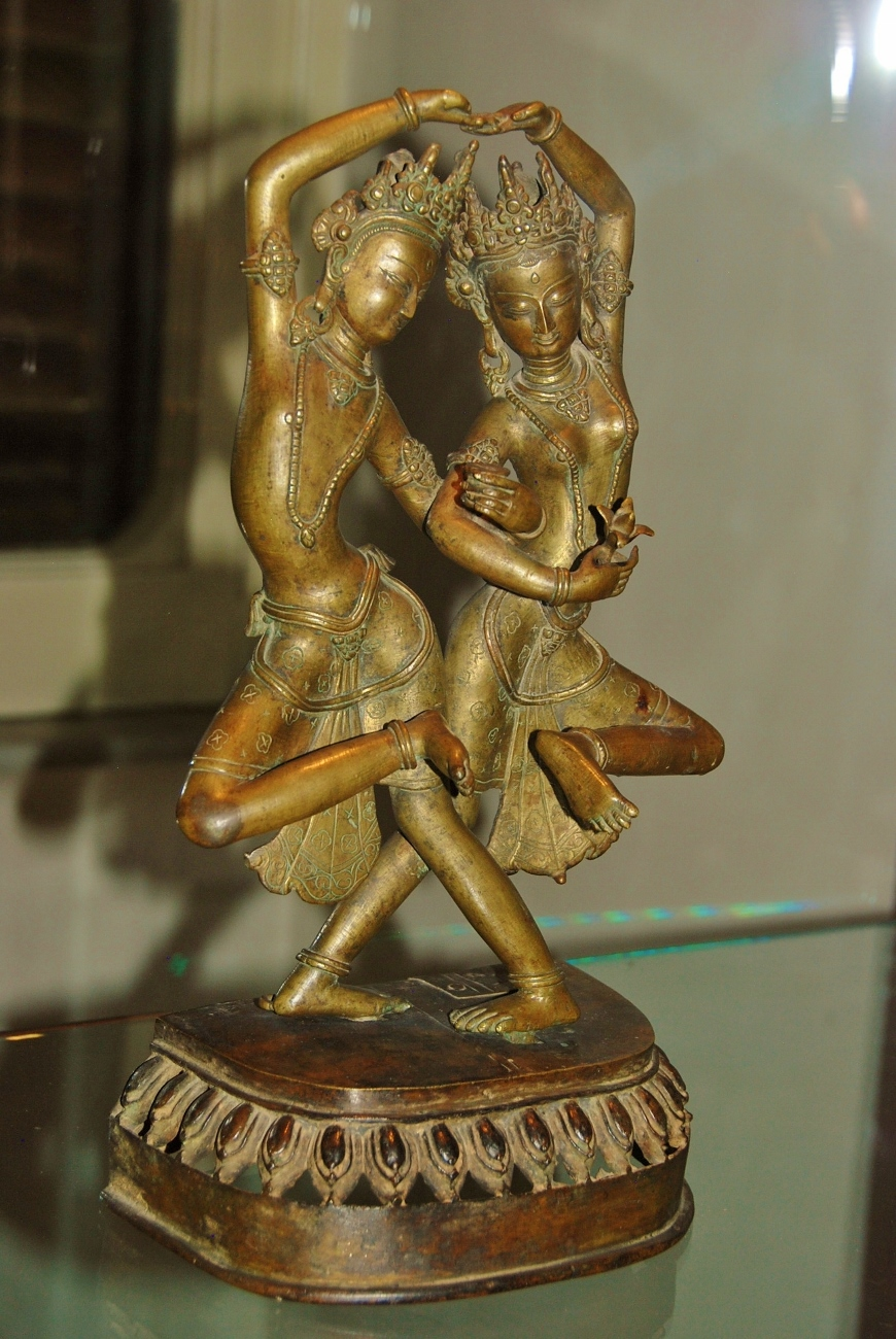 Dancing goddesses, Tibet or Nepal, XVIIIth cent. AD.