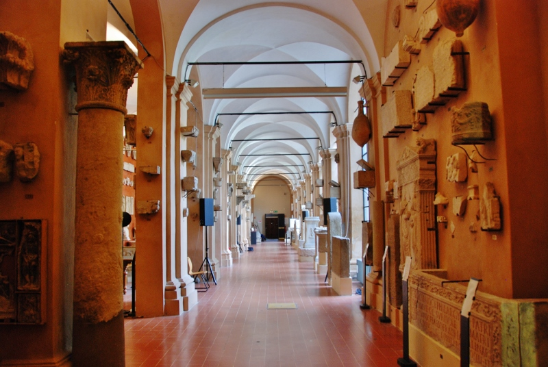 The cloister exhibit