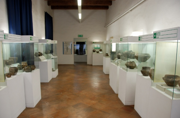 the second floor archaeology section