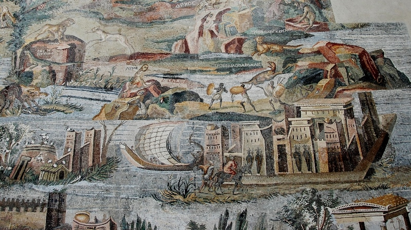 The Nile mosaic (detail)