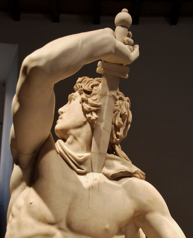 The Ludovisi Gaul Killing Himself and His Wife (detail)