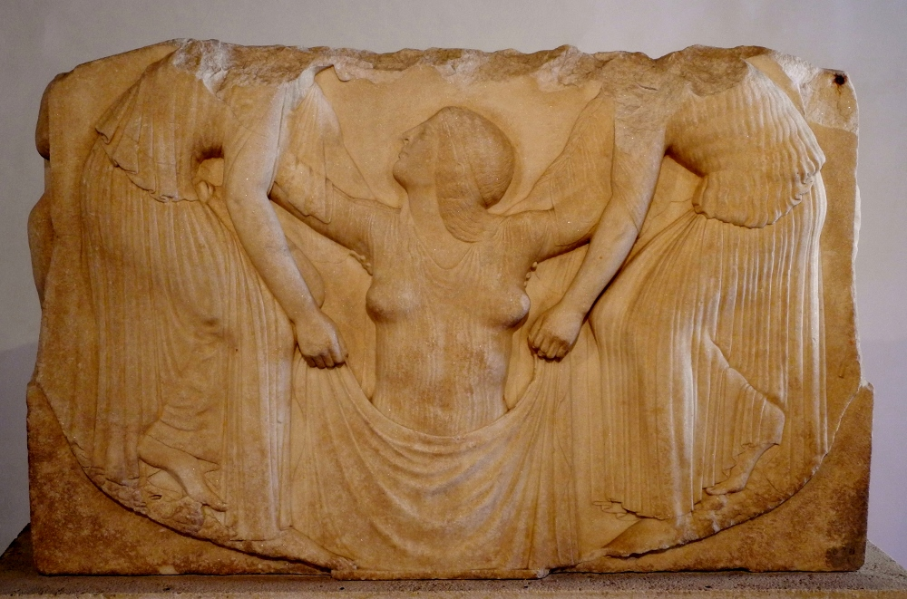 "The Ludovisi throne, ""Aphrodite rising from the sea""."