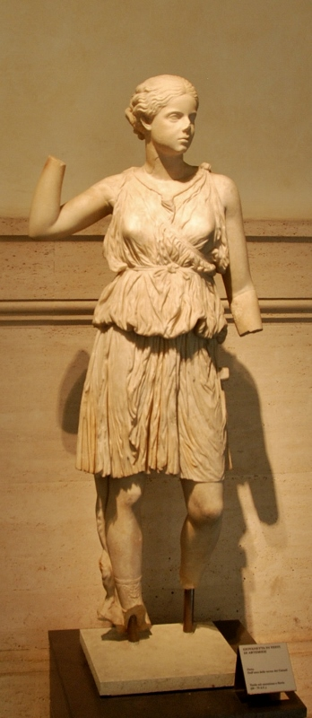 Youth dressed as Arthemis  70 CE