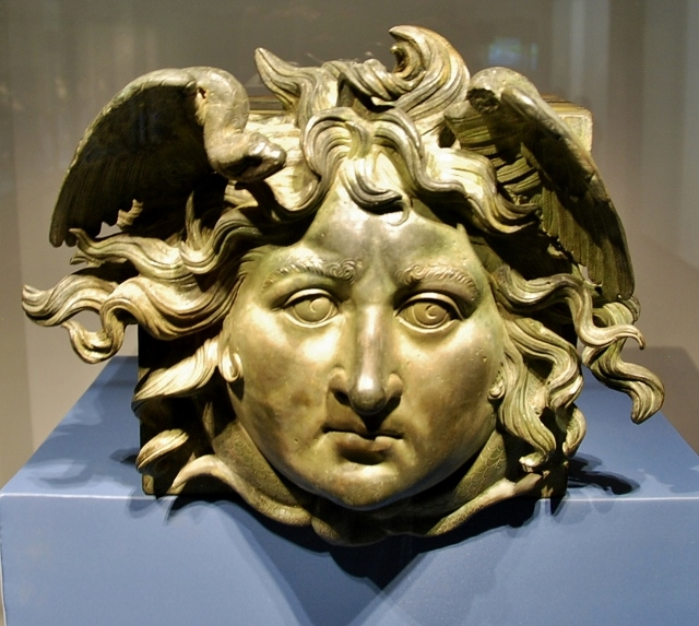 Medusa head, part of the Caligula boat from the Nami lake