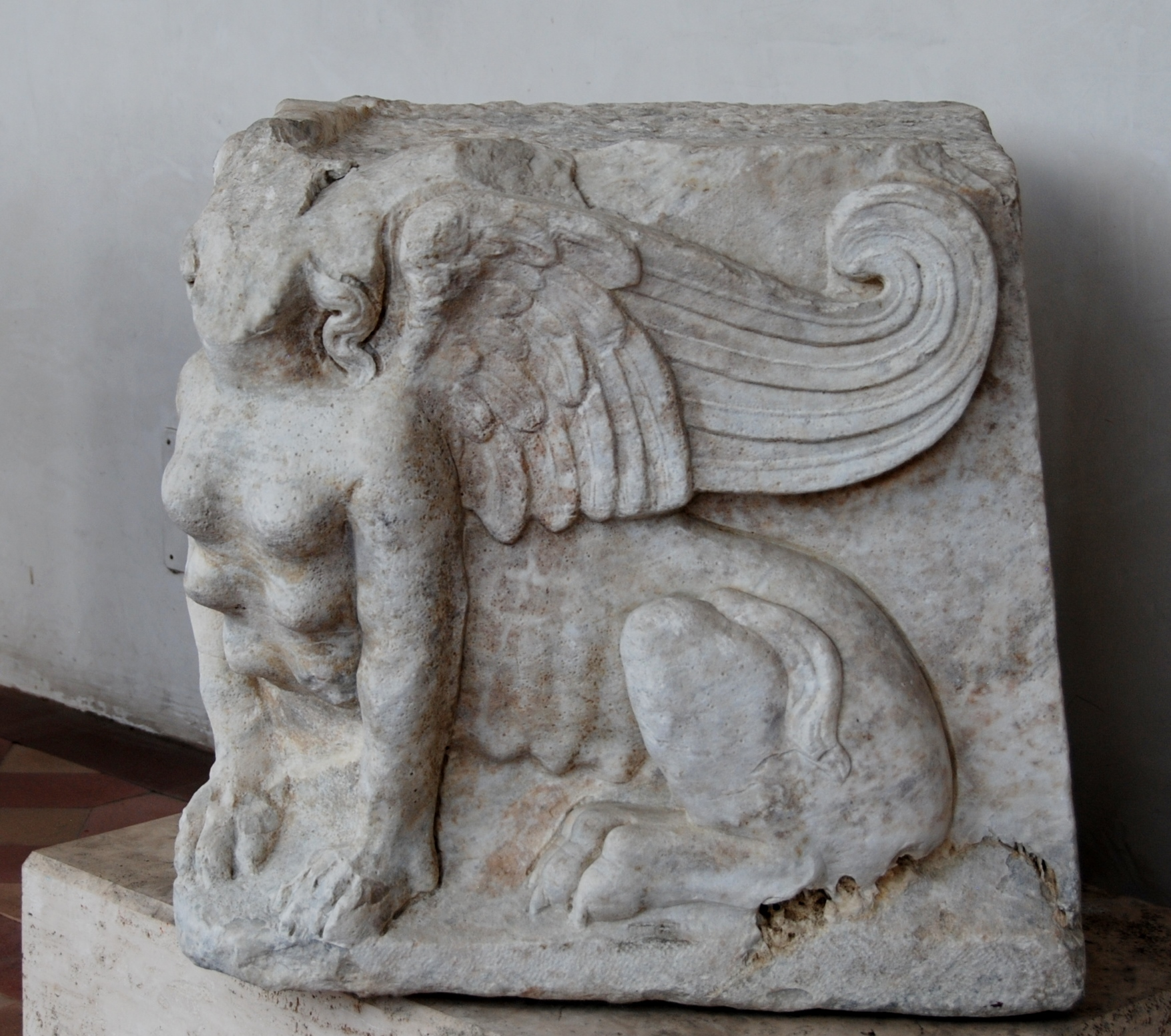 a sphinx.   IIId c. CE