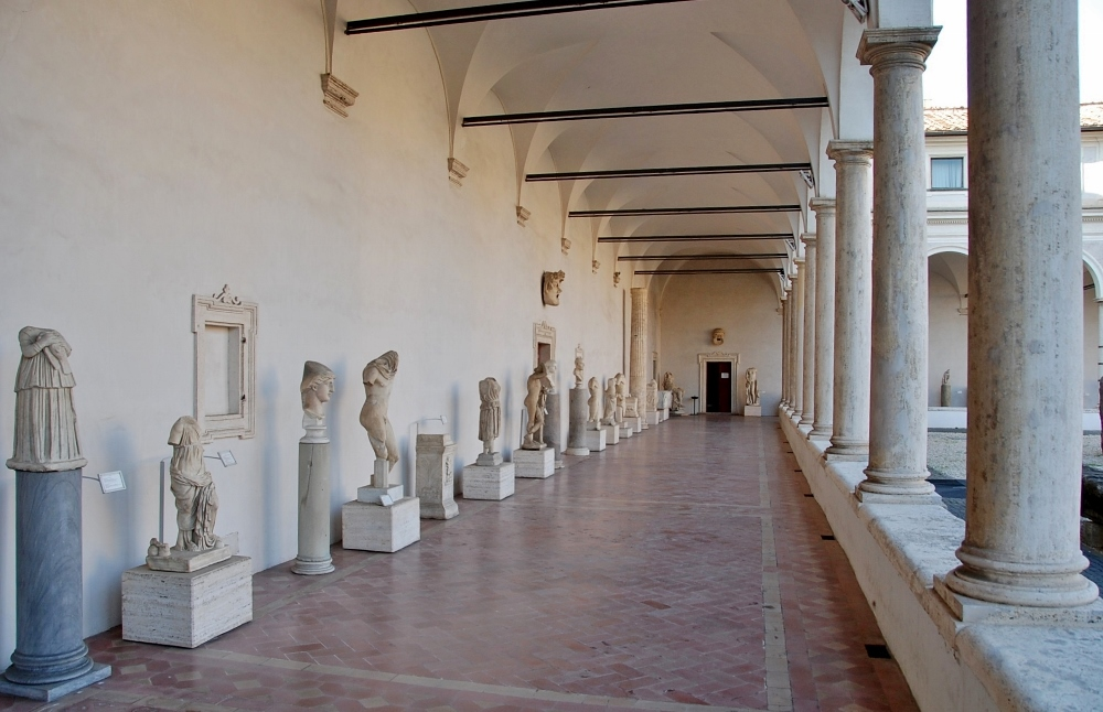 one of the cloister arcades
