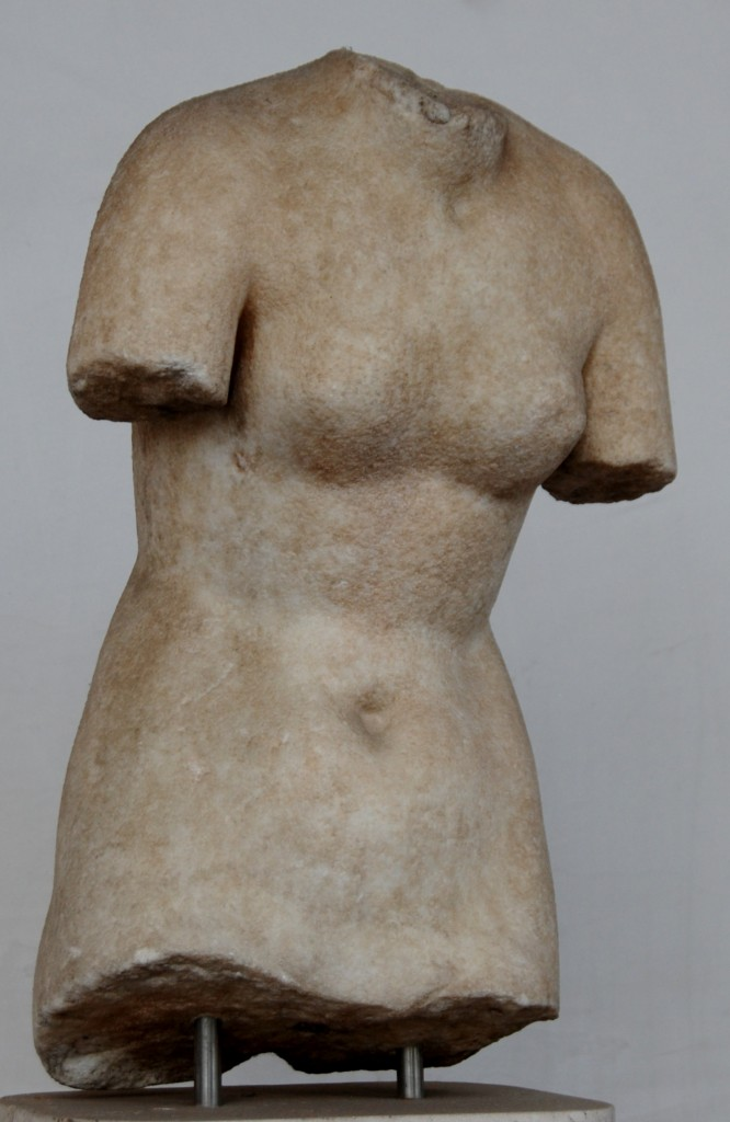 a torso perhaps in the style of of Aphrodite Pudica.   Imperial Rome